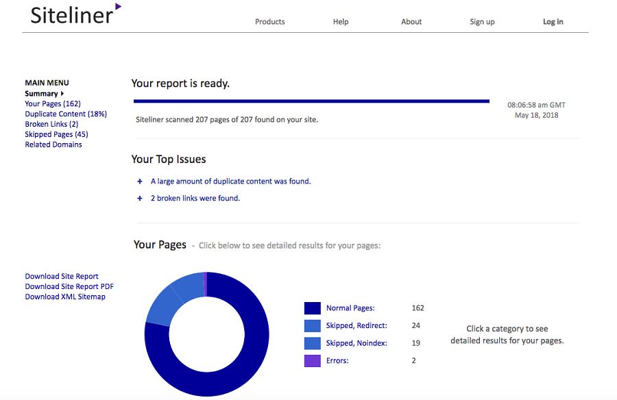 """Siteliner chính là """"ứng cử viên"""" sáng giá để check nội dung trùng lặp."""