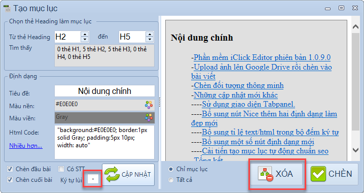 Khi sử dụng phần mềm iClick Editor bạn sẽ thấy nó liên tục được phần mềm được nâng cấp và được bổ sung thêm tính năng mới.