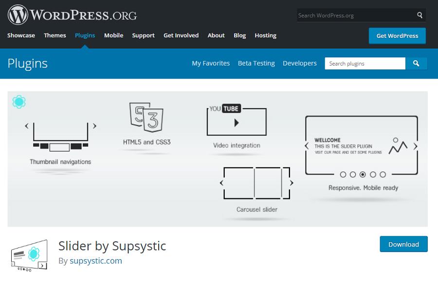 Slider by Supsystic cho phép bạn tùy biến hình ảnh, video đẹp mắt.