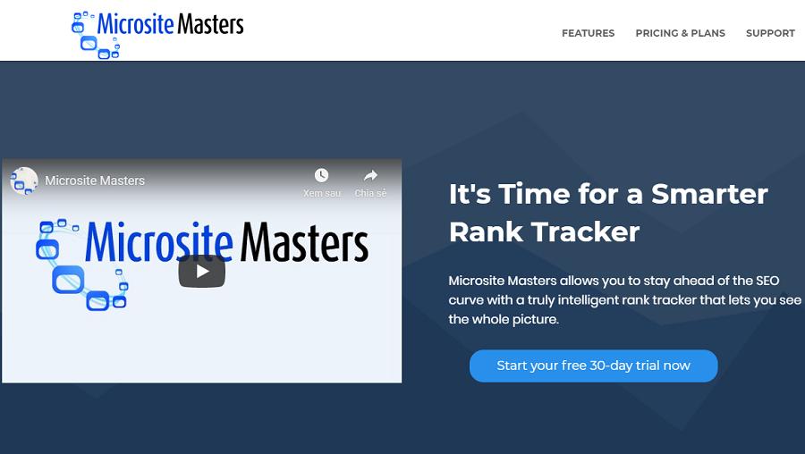 Microsite Maste cung cấp dịch vụ tra cứu thứ hạng từ khoá mỗi ngày và đang được nhiều người dùng yêu thích.