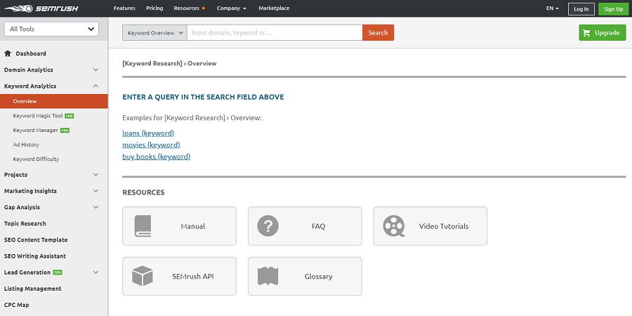 SEMrush là công cụ kiểm tra thứ hạng từ khóa yêu thích của nhiều SEOer trên thế giới.