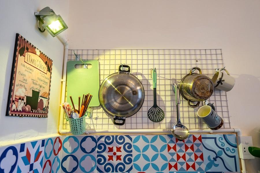 Góc bếp bé xinh xinh của căn hộ