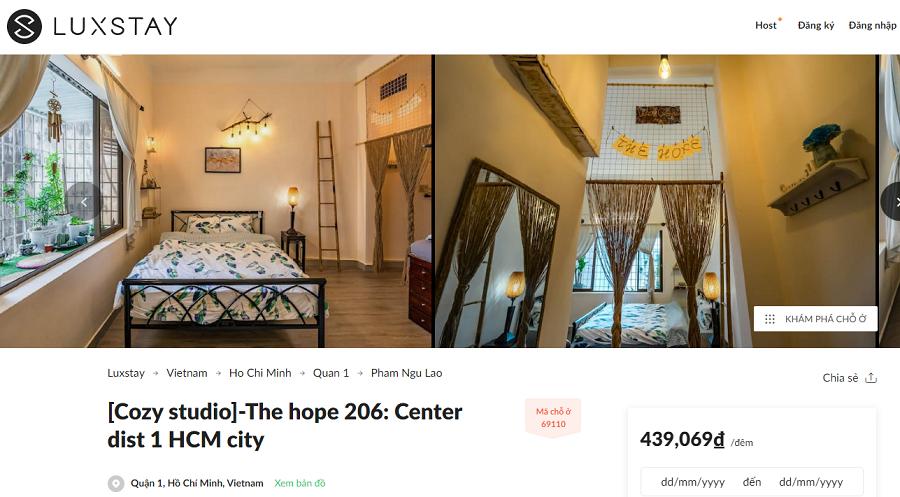 Bạn thông thạo tiếng Anh thì có thể tìm thông tin căn hộ cho thuê ngắn hạn quận 1 tại các trang web như: Airbnb.com.vn, luxstay.com,....