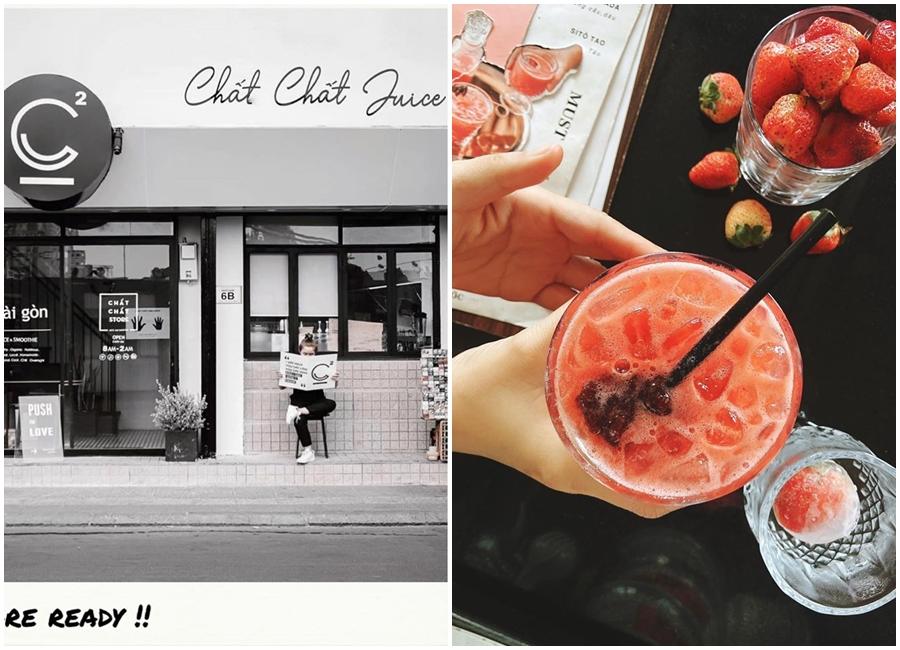 quán cà phê đẹp Chất Chất Juice - điểm hẹn lý tưởng cho những buổi hẹn hò trên phố Lê Lai