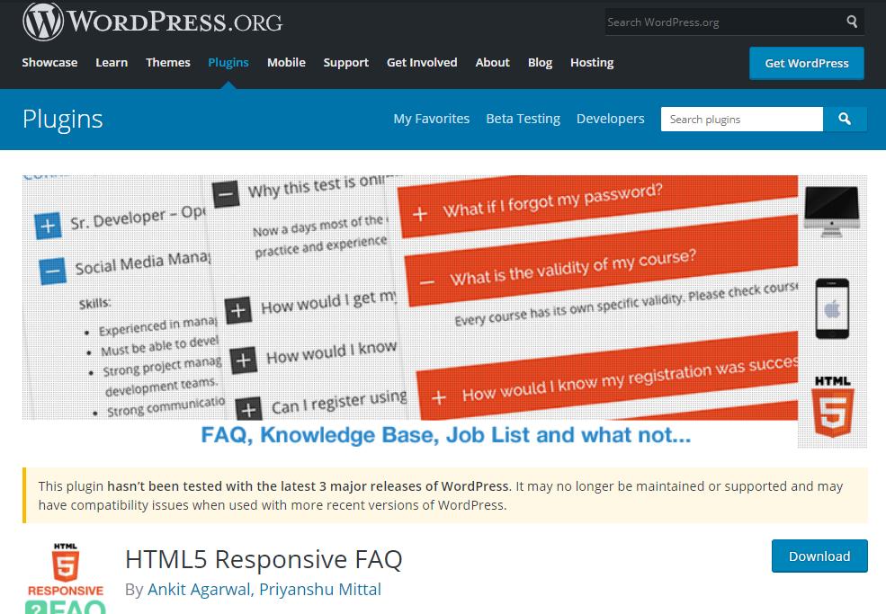 Plugin FAQ HTML5 Responsive có rất nhiều tính năng ưu việt trong việc thêm, tạo và quản lý nhiều câu hỏi thường gặp trên website.