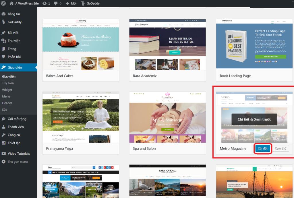 Chọn theme và thiết kế giao diện cho blog