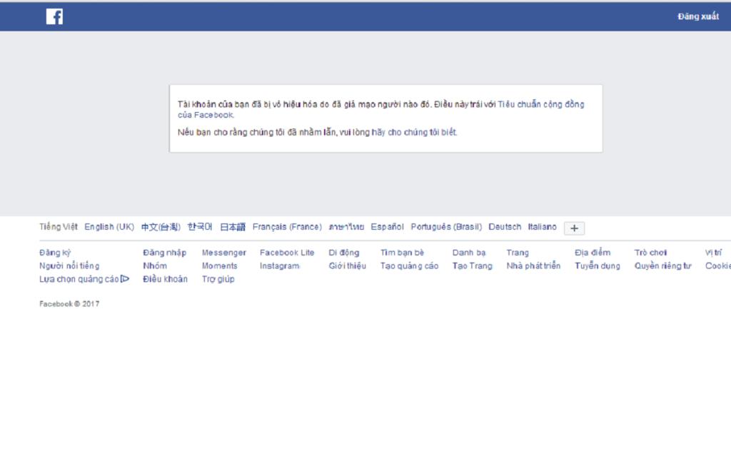 FAQ MD xuất hiện khi tài khoản cá nhân trên Facebook của bạn bị người khác báo cáo là giả mạo.