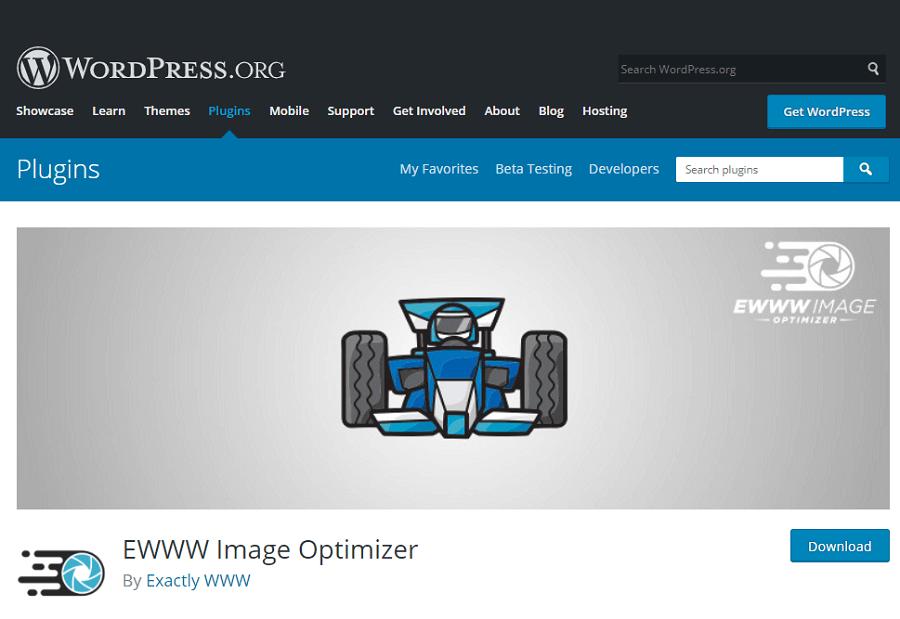 EWWW Image Optimizer plugin.