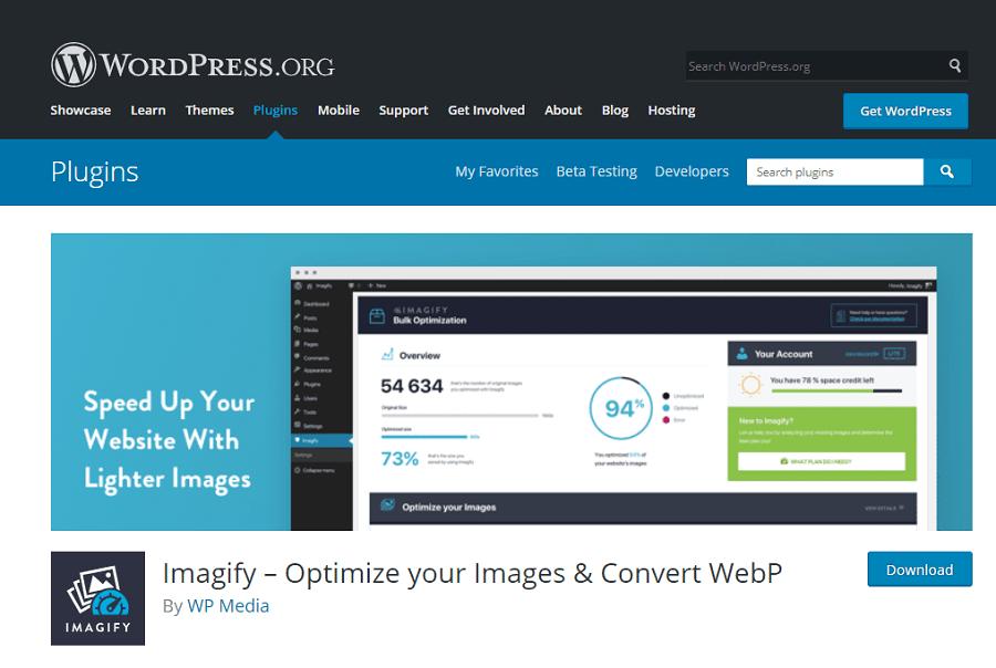 Sử dụng Imagify người dùng có thể nén ảnh thuộc 3 định dạng là JPG, PNG và GIF.