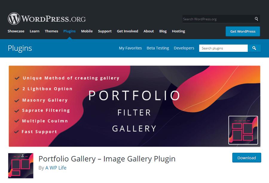 Portfolio Gallery được đánh giá cao hơn các plugin thư viện ảnh WordPress khác là vì sự đơn giản