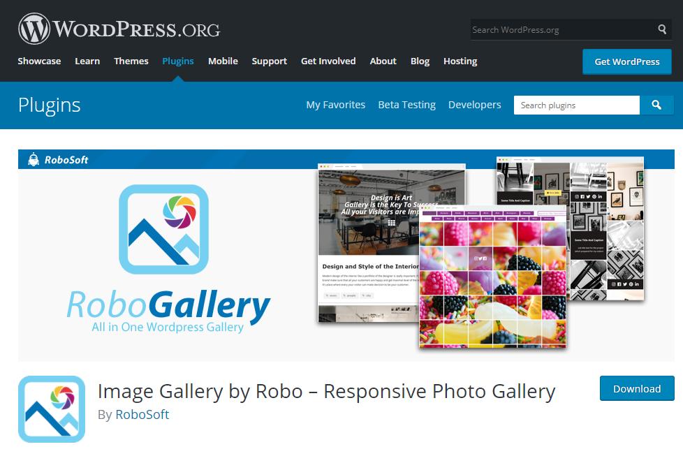 Thêm một plugin nén ảnh có phiên bản miễn phí nữa đó chính là Image Gallery by Robo.
