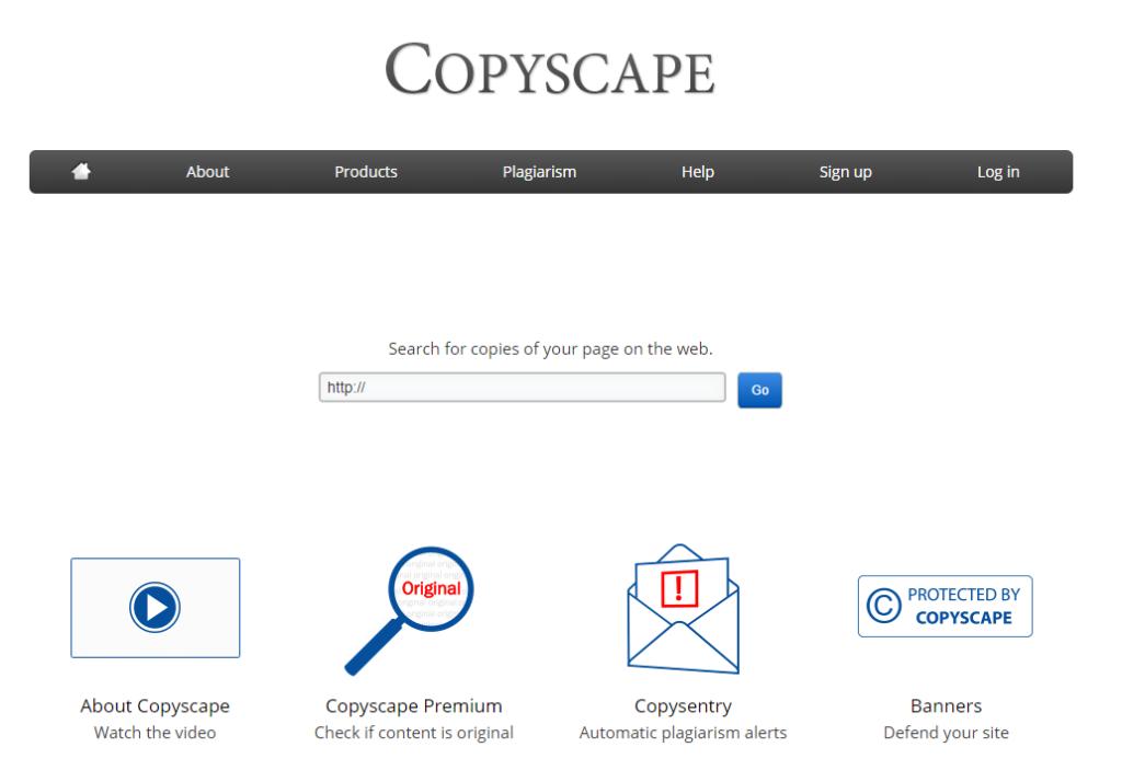 Copy Space thực hiện việc quét trùng lặp qua link bài viết hoặc link website.