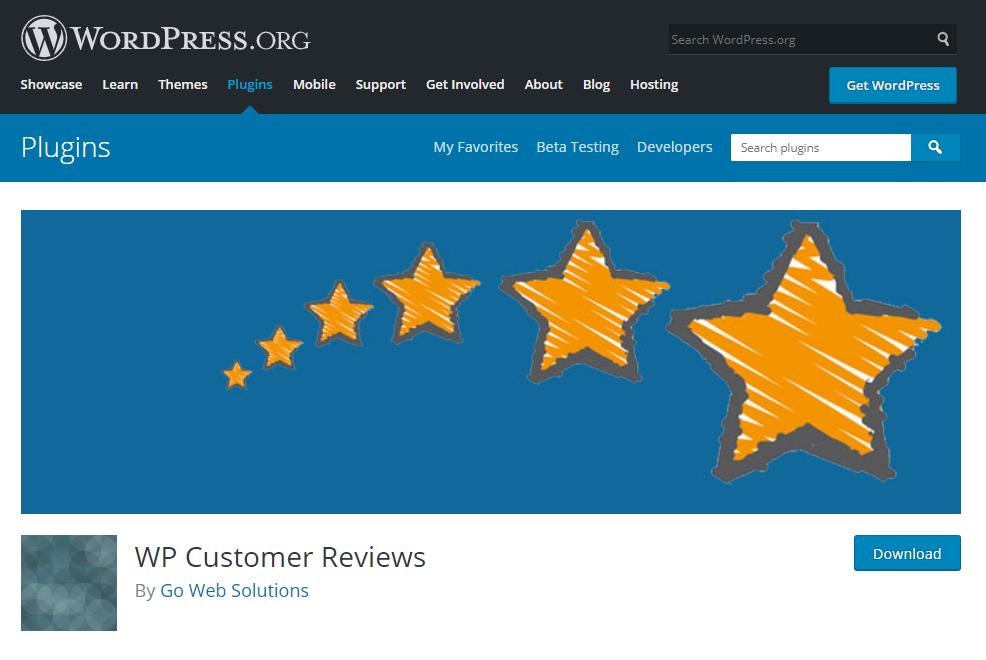 WP Customer Reviews là plugin dễ cài, dễ sử dụng.