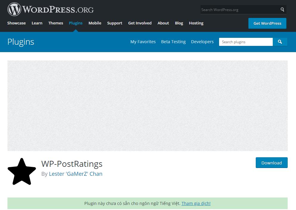 WP-PostRatings là plugin sử dụng công nghệ AJAX.